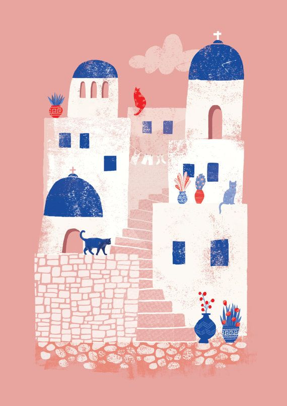 زفاف - Santorini, Greece // A4 Art Print
