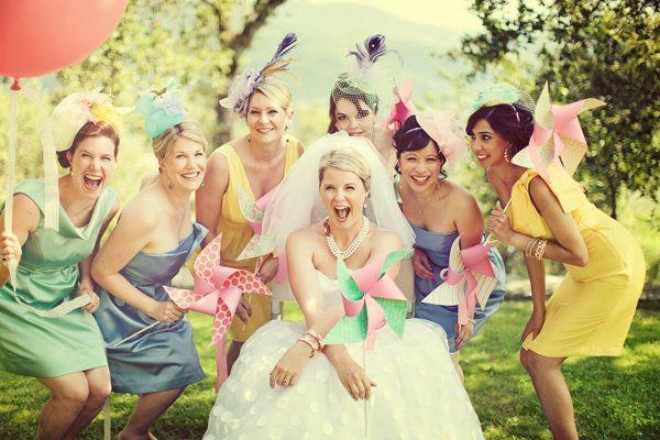 Mariage - Pinwheel Wedding Party Set by Rule42 - custom designed for you