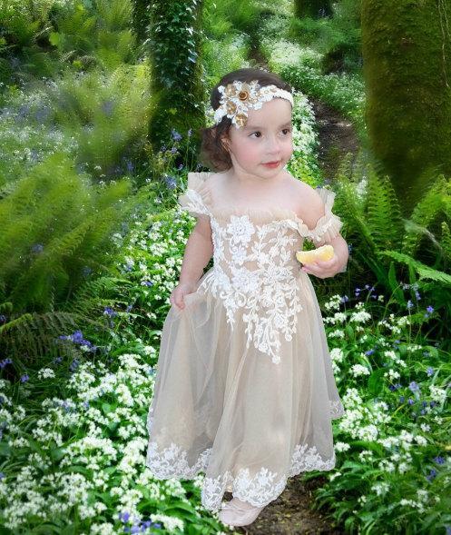 Mariage - Flower girl dress, girl dress, easter dress, spring dress, first birthday dress, girl dress, toddler dress,toddler lace dress