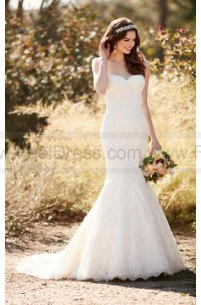 Wedding - Essense Of Australia Fit And Flare Wedding Dress With Chapel Train Style D2224