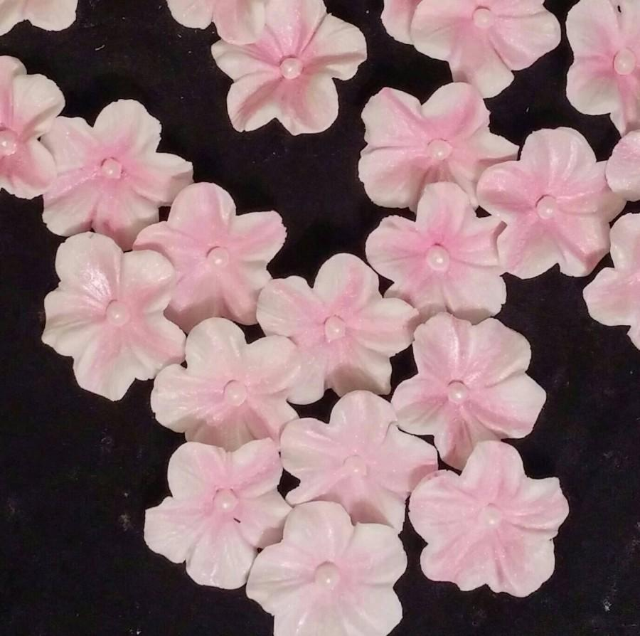 24 edible blossom any color gum paste fondant flowers sugar 24 edible blossom any color gum paste fondant flowers sugar flowers cake or cupcake decoration cake or cupcake topper mightylinksfo