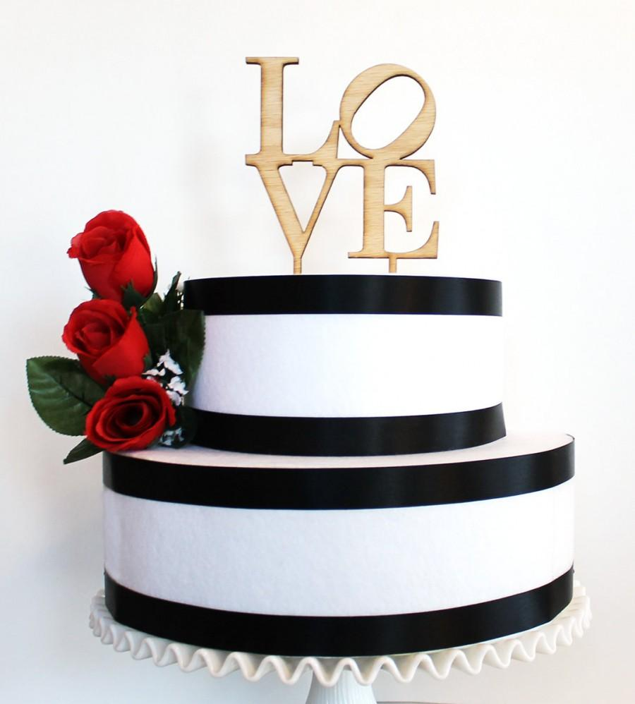 Love Philly Cake Topper Laser Cut Wood Cake Topper Acrylic Cake