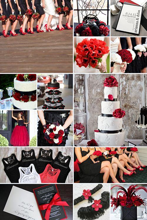 Свадьба - Black And Red Weddings