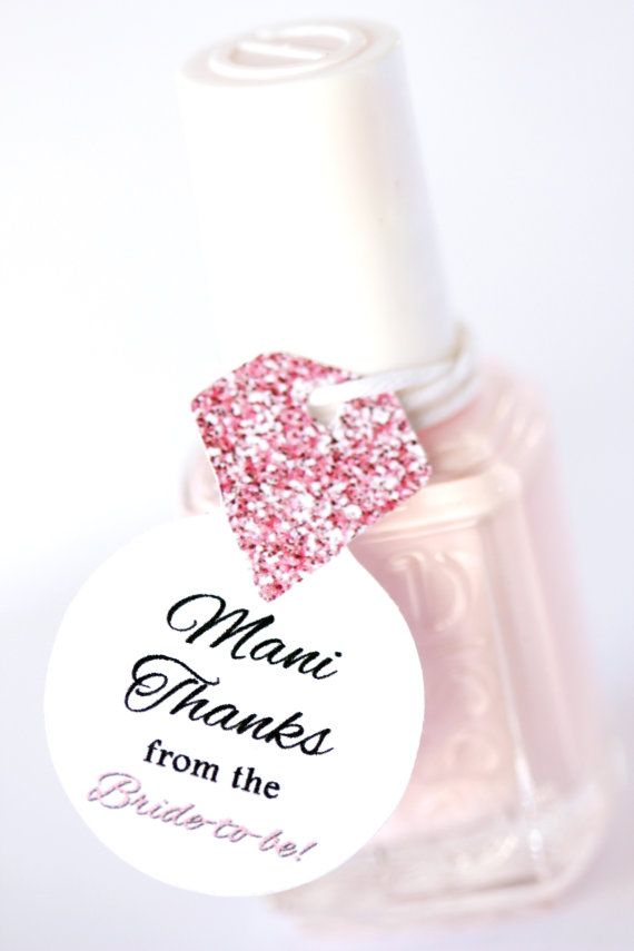 Nail Polish Favor Tags Thank You Favors Shower Bridal Wedding Diamond Ring Bachelorette Party