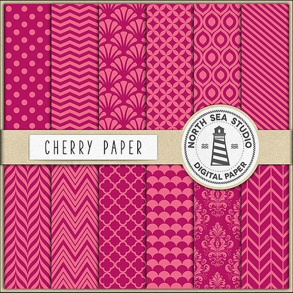 Wedding - Cherry Digital Paper Pack