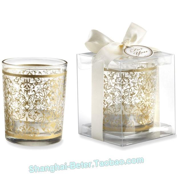 "زفاف - Beter Gifts® ""GOLDEN RENAISSANCE"" GLASS TEALIGHT HOLDER"