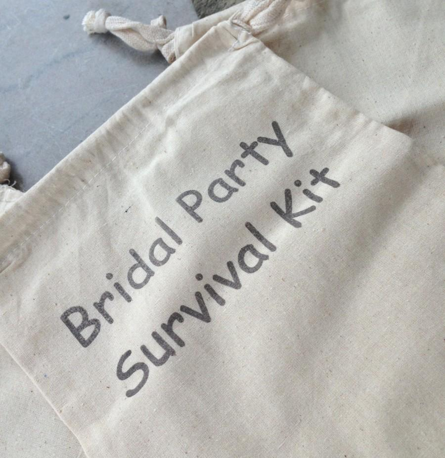 Mariage - Bridal Party Survival Kit - Bags ONLY -  Wedding Party - Bridesmaid - Bride - Flower Girl - Matron of Honor