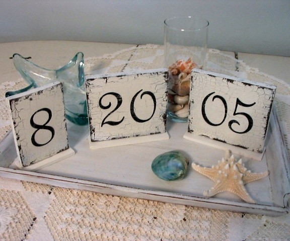 Wedding - Set of 3 STANDING DATE SIGNS for Save The Date, Weddings, Receptions, Anniversaries, Birthdays