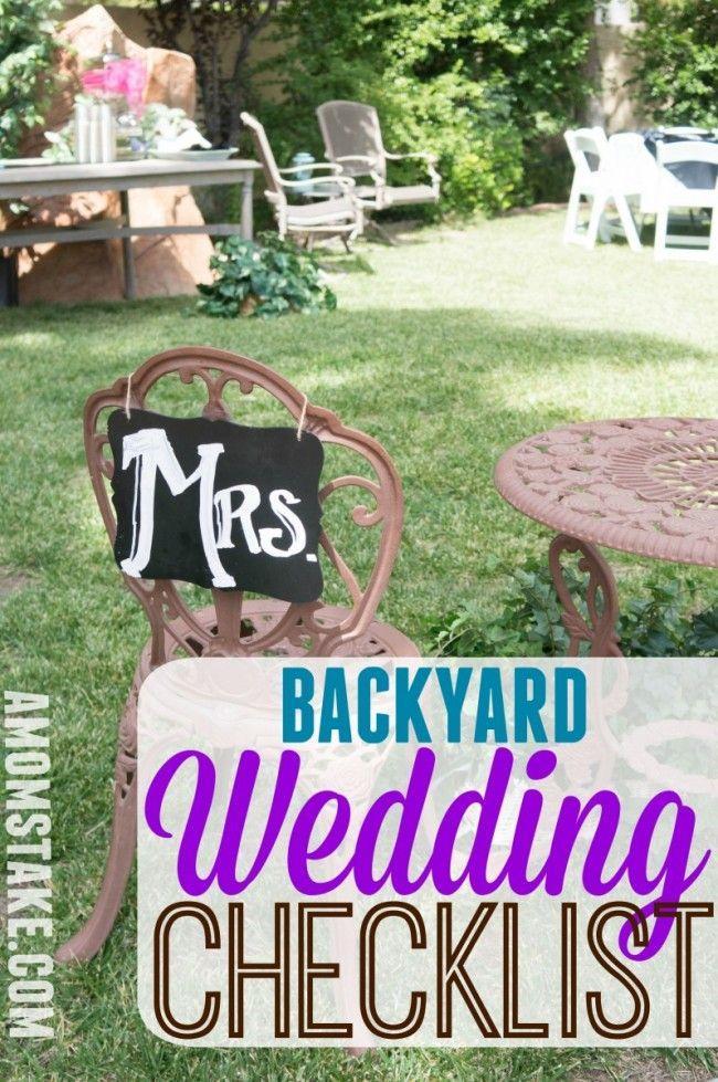 Wedding Theme - DIY Backyard Wedding Checklist #2552418 ...