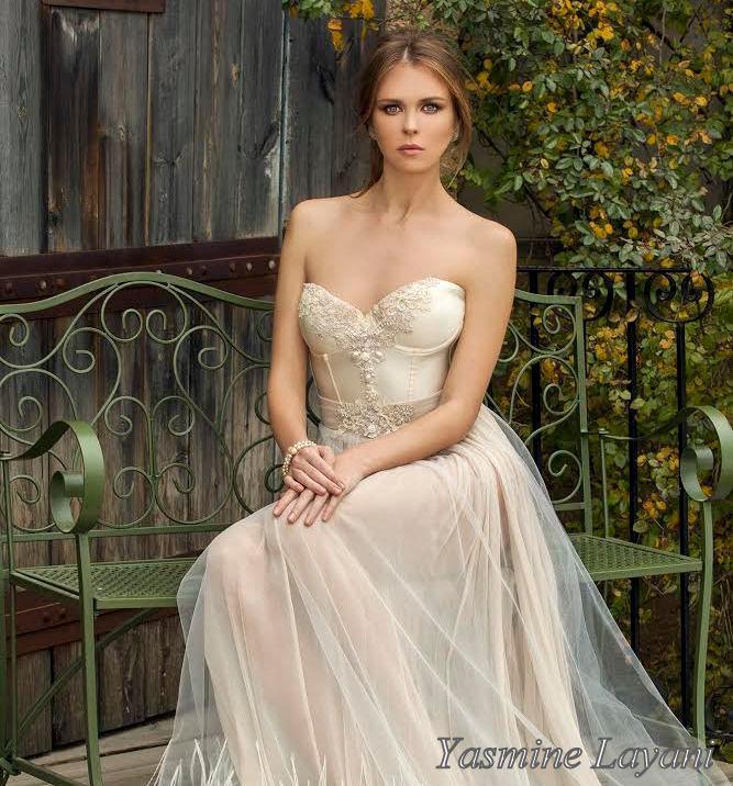 Chic Wedding Dress Boho Wedding Dress Lace Wedding Gown Champagne ...