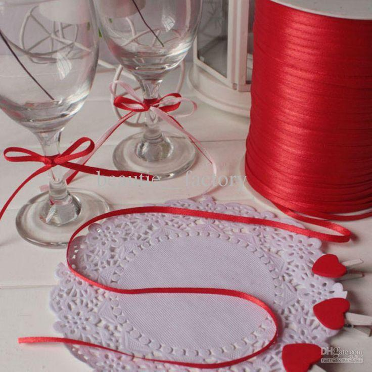 Свадьба - 1/83mm Satin Ribbon Wedding Party Craft Sewing Decorations 1 Roll 880yds Online With $20.17/Piece On Beautie__factory's Store