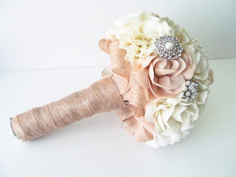 Свадьба - Bridal Fabric Bouquet /  Brooch Bouquet / The Southern Girl Bridal Bouquet
