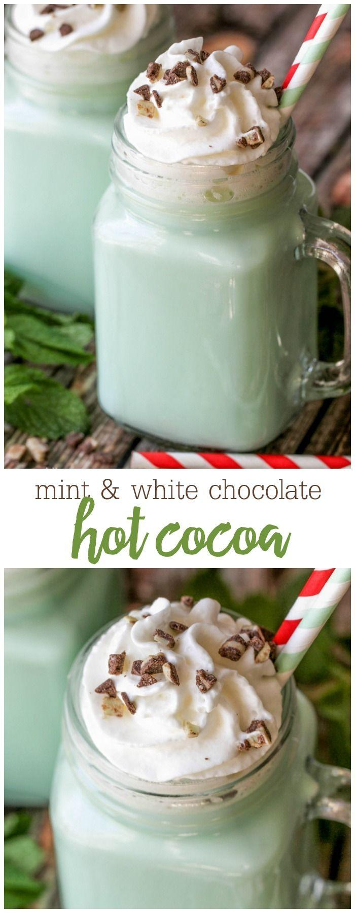 Свадьба - Mint And White Chocolate Hot Cocoa