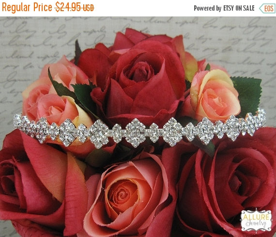 Mariage - SALE 30% Off Rhinestone Crystal bridal headband headpiece, wedding headband, wedding headpiece, rhinestone tiara, rhinestone, crystal tiara