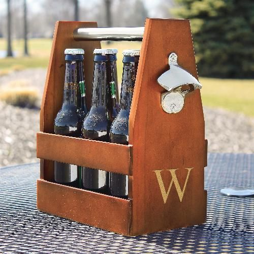 Свадьба - Engraved Wooden Six Pack Beer Holder