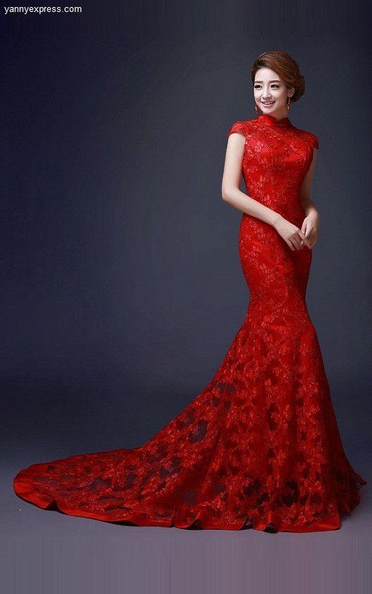 Wedding Qipao Cheongsam Bridal Kwa Qun Couture Evening