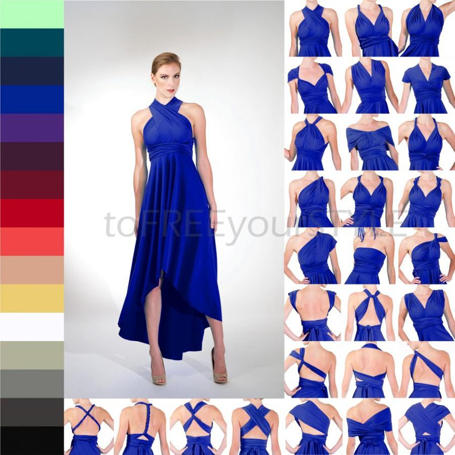 High Low Infinity Dress Free Style Dress Convertible Bridesmaid
