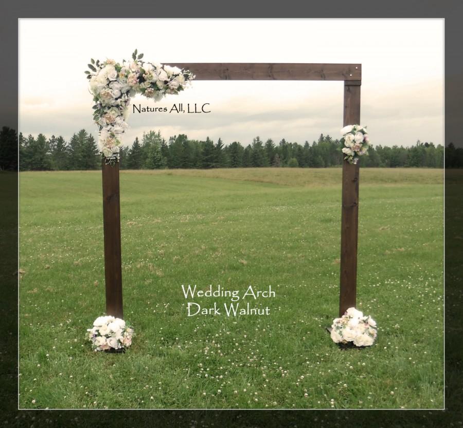 Wedding - Rustic Wedding Arch With Large Platform Stands/For Indoor or Outdoor Weddings/Dark Walnut:Item# DWA-5425