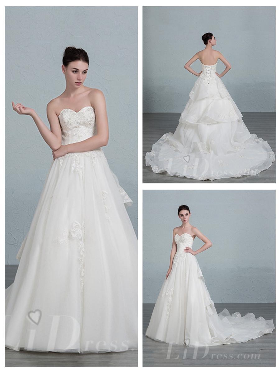 Sweetheart A-line Wedding Dress #2553011 - Weddbook
