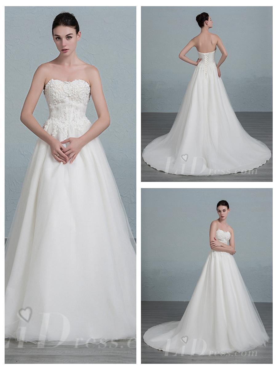 Mariage - Strapless A-line Wedding Dress