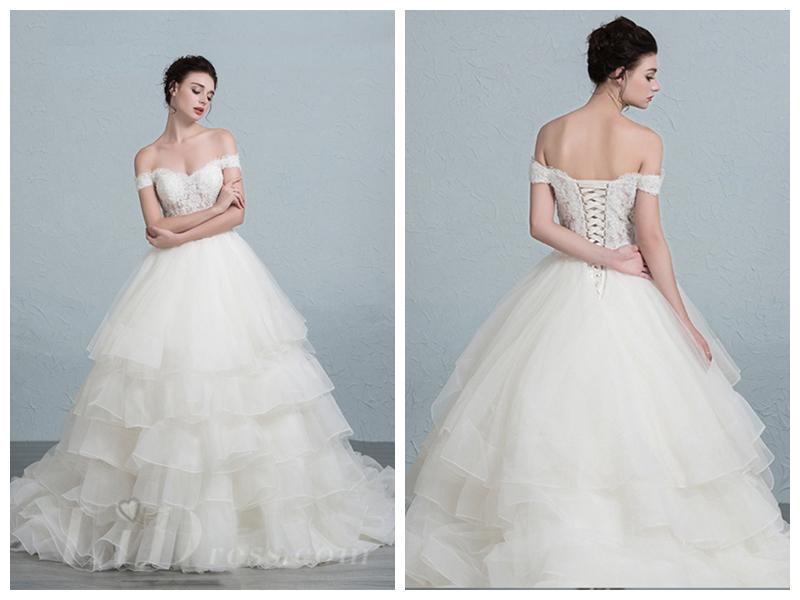 Wedding - Off the Shoulder Ball Gown Wedding Dress