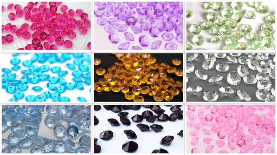 New Acrylic Diamond Crystal Confetti For Wedding Party Decoration