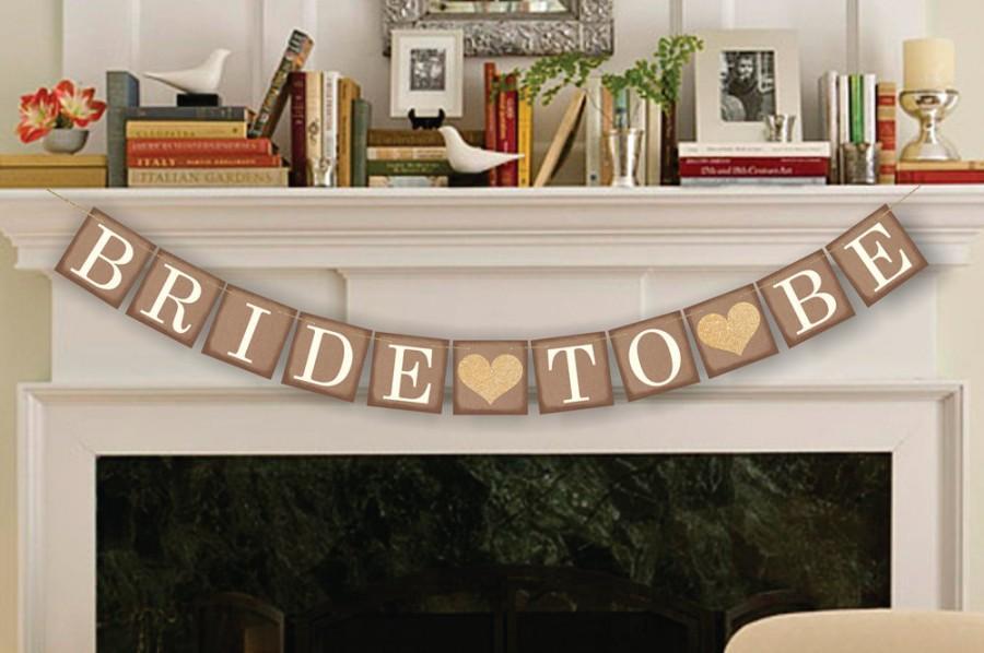 Свадьба - Bride-To-Be Banner - Bridal Shower Decor - Bachelorette Party - Wedding Banners