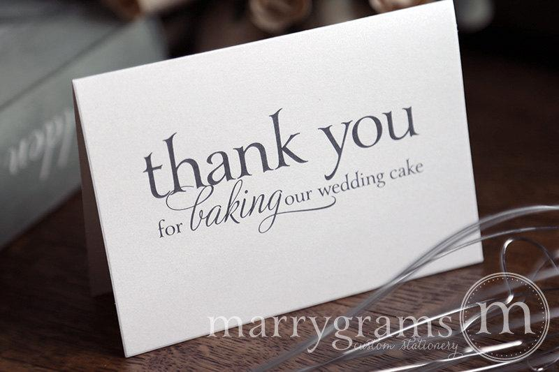 Mariage - Wedding Card to Your Baker - Thank You for Baking Our Wedding Cake - Vendor Tip Notecard - Vendor Thanks on Your Special Day - CS08