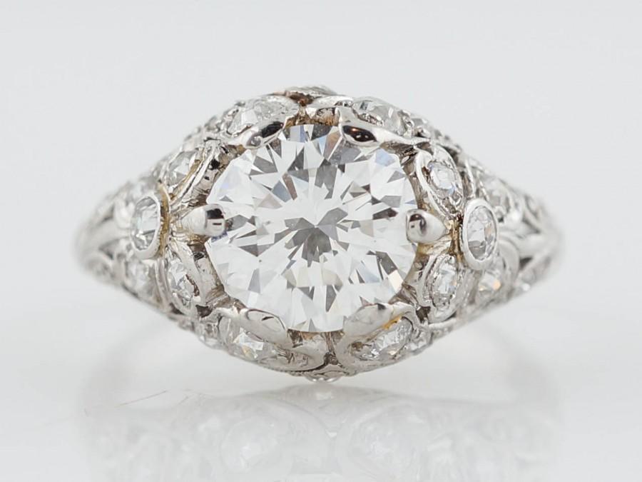 antique engagement ring edwardian era 1 85 ct