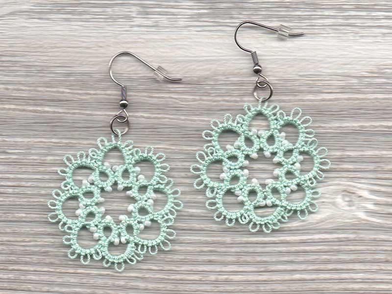 Свадьба - Mint Bridal Jewelry, Mint Bridesmaid Earrings, Seafoam Bridesmaid Earrings, Mint Bridesmaids Gift, Mint Wedding Jewelry, Mint lace earrings