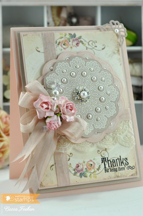 Wedding - Cards-Doilies & Medallions & Rosettes