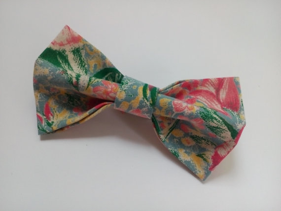 Floral Bow Tie Green Pink Ties Gift For Men Boyfriend Father Gifts Party Coworker Birthday The Besst Giftt Cadeau Pour Garcons