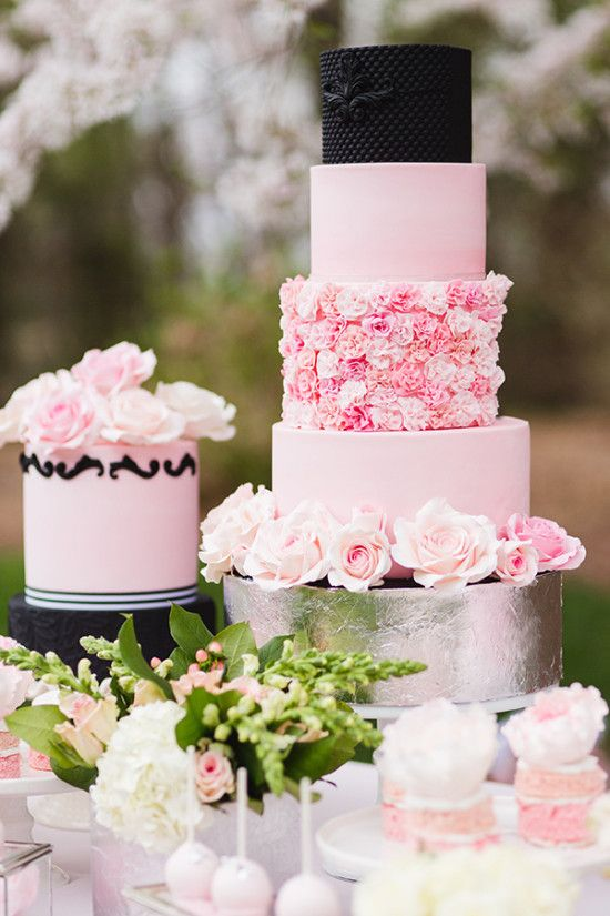 Elegant Wedding Ideas | Kuchen Pink And Platinum Elegant Wedding Ideas 2553334 Weddbook