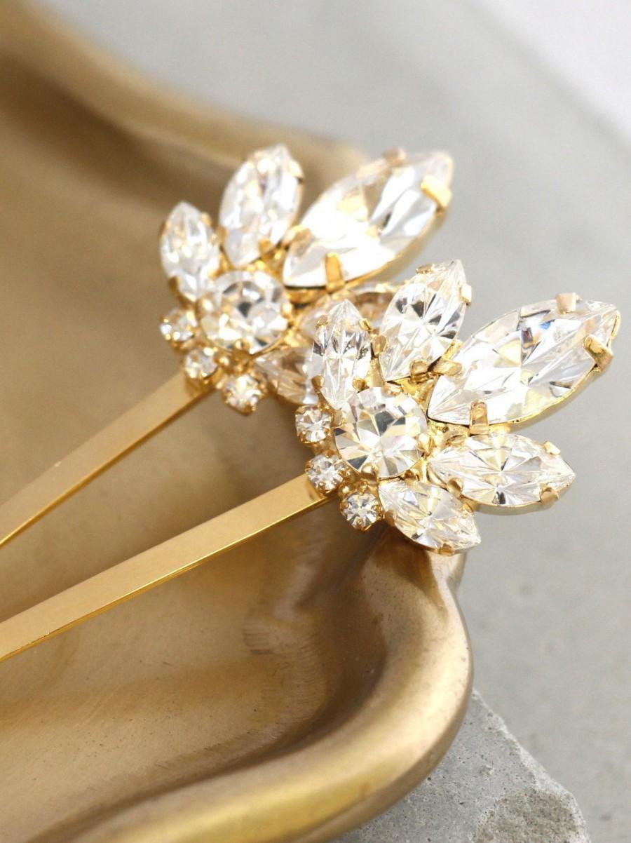 Свадьба - Bridal Hair Crystal Pin,Bridal Swarovski Bobby Pin,Bridal Crystal Bobby Pin,Wedding Hair Jewelry,Crystal Bridal Hair Jewelry,Bridal Hair Pin