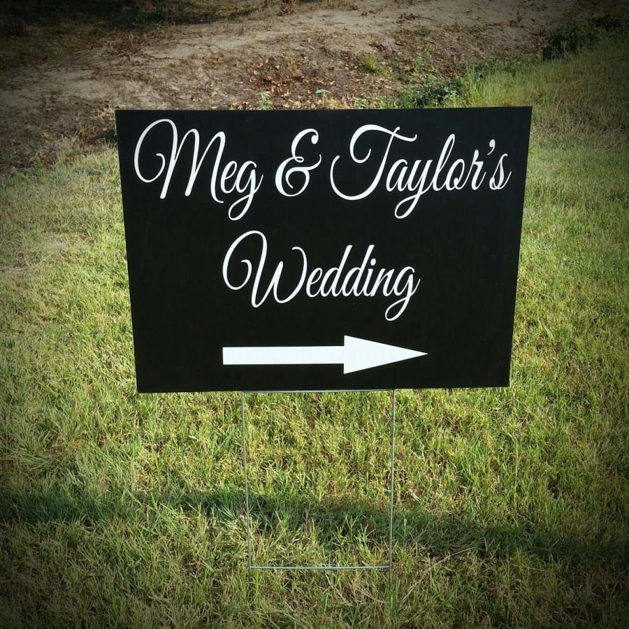 wedding yard sign wedding directional sign corrugated plastic yard signs yard signs personalized yard signs wedding signs 18x24