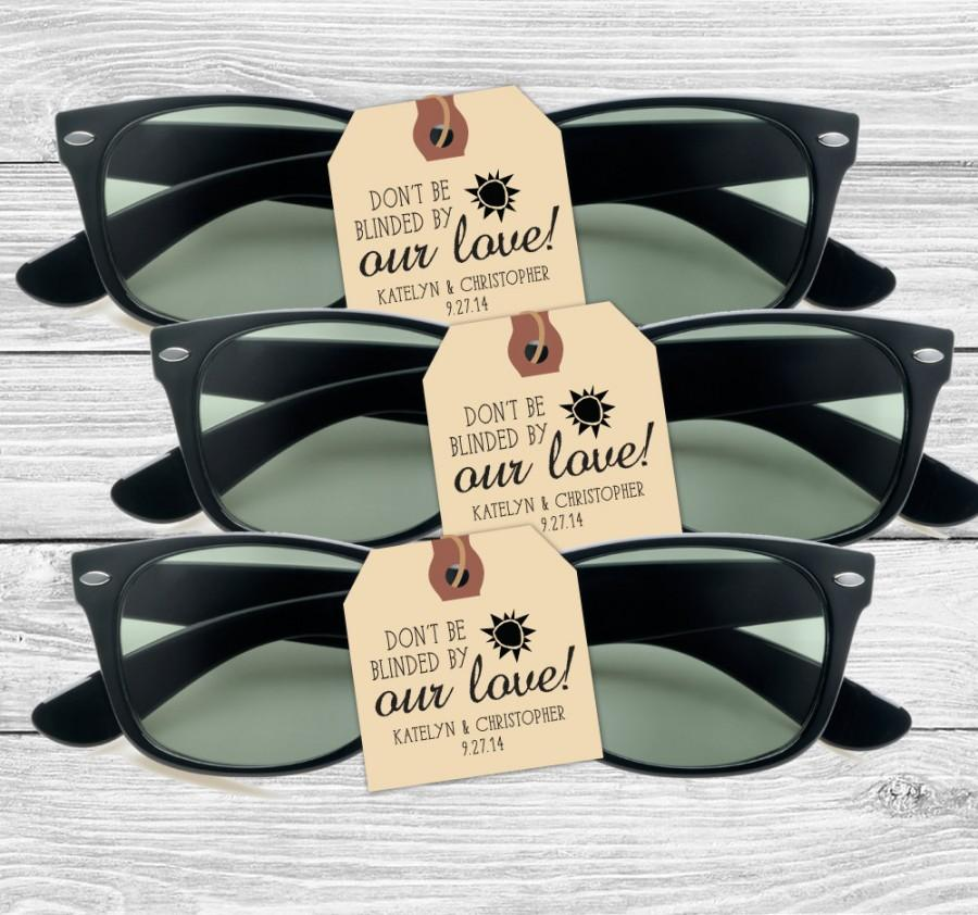 Wedding - Custom wedding favor stamp--Don't be blinded by our love!--152TS