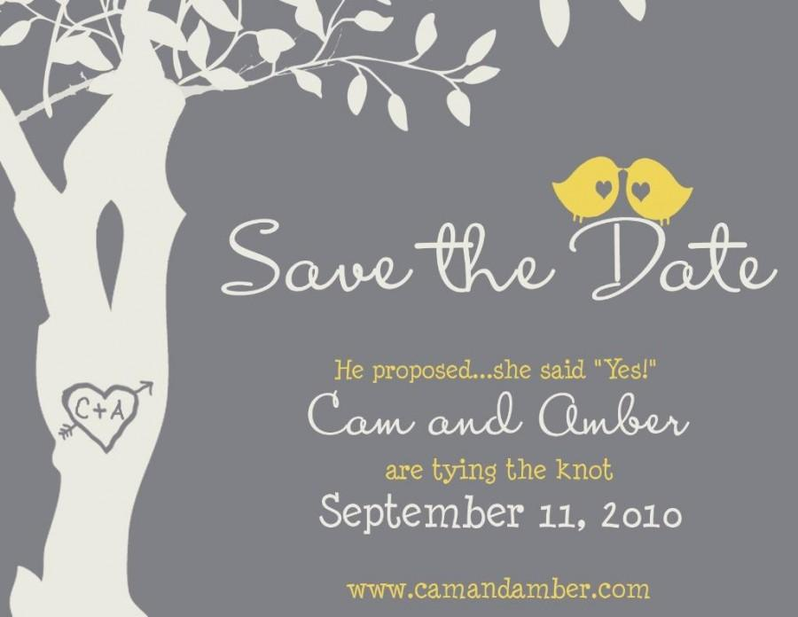 Wedding - Love Bird Save the Date Magnet - Custom Love Birdies Save the Date Magnet
