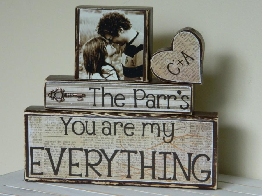Wedding decorationgift bridal shower decorationgift personalized wedding decorationgift bridal shower decorationgift personalized wedding gift with photo name and quote rustic key charm painted wood junglespirit Gallery