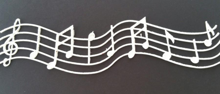 Mariage - Edible Lace - Musical Note Melody Edible Lace  - Ready to Use Edible Lace for Edible Lace DIY Cake, Any Occasional Edible Lace Needs