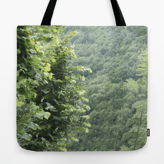 Hochzeit - Forest Nature Green Tote Bag leaves 13x13 16x16 18x18 Mountain Woodland Beach Market Birthday Gift Wanderlust Trees Floral Everyday for her