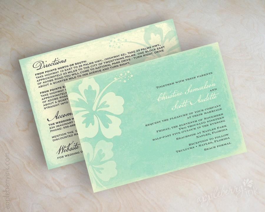 destination wedding invitation beach wedding stationery beach