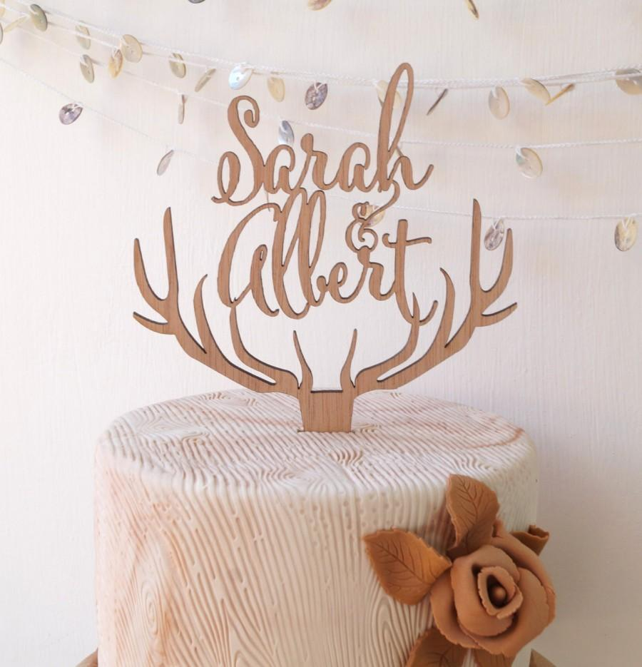 Deer Head Wedding Cake Toppers