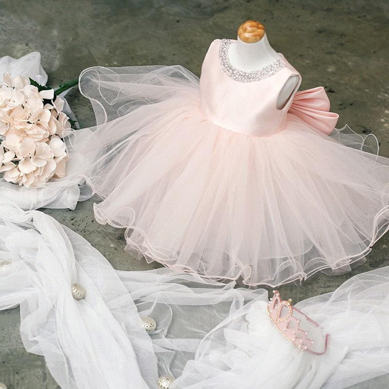 Special Occasion Flower Girl Wedding Dress Hand Beading Gown Girls