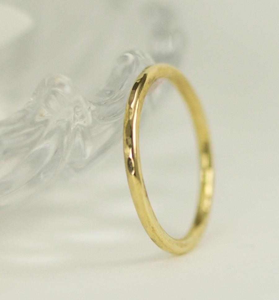 Mariage - 18k Gold Band - 18k Gold Wedding Band - Solid 18k Yellow Gold Ring 1.6mm