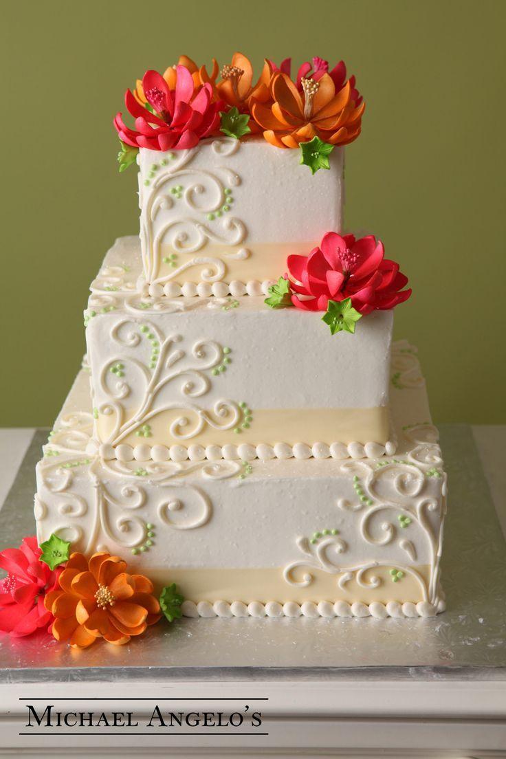 Wedding - Orange Lotus  - Michael Angelo's Bakery