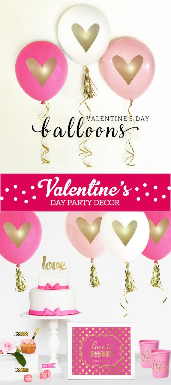 Valentines Day Balloons Valentines Day Decor Valentine Decorations