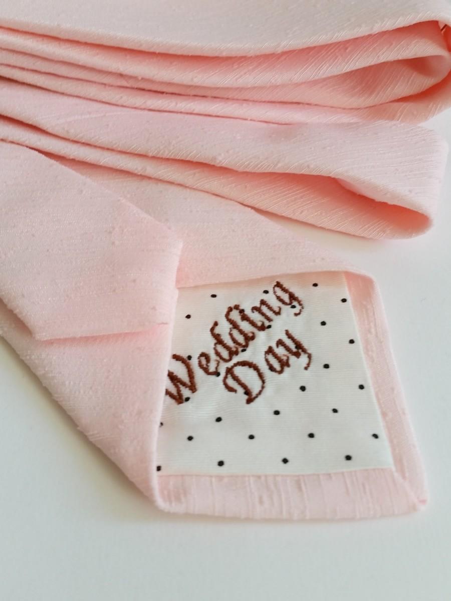 Свадьба - Wedding Day Neck Tie in Textured Blush Pink