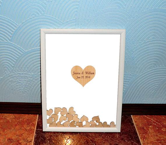 Heart Drop Top Box 3D Wedding Guest Book Alternative Drop Top ...