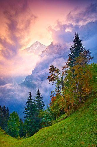 زفاف - Dawn Behind The Eiger, Bernese Alps, Switzerland