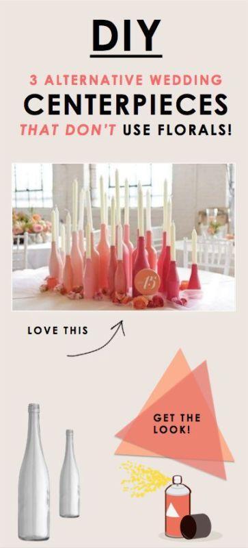 Свадьба - 3 Alternative Wedding Centerpieces That Don't Use Florals!